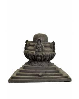 Stupa, Buddha, keramika, černá, 25x30cm