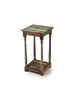 "Odkládací stolek na kytky v ""Goa"" stylu, 41x41x78cm"