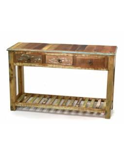 """Konzolový stolek v """"Goa"""" stylu, antik teak, 119x30x76cm"""