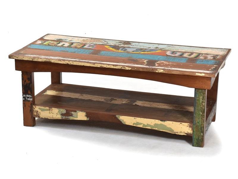 "Konferenční stolek v ""Goa"" stylu, antik teak, 120x60x45cm"