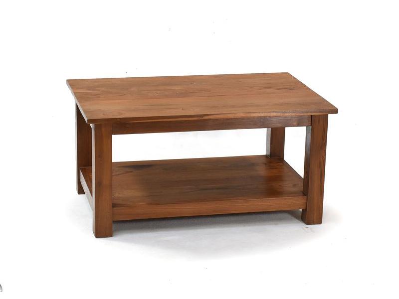 Konferenční stolek, antik teakové dřevo, 90x60x45cm