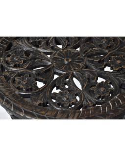 Stolička z mangového dřeva, černá patina, 46x46x60cm