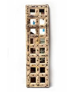 Zrcadlo v rámu ze staré okenice, 40x145x5cm