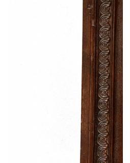 Zrcadlo ve vyřezávaném rámu z antik teaku, 76x100x4cm