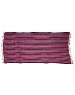 """Šál se vzorem """"Ornamental stripes"""", fialové combo, 100x200cm"""