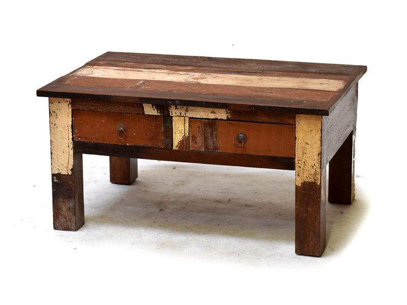 """Konferenční stolek z antik teakového dřeva v """"Goa"""" stylu, 60x90x46cm"""