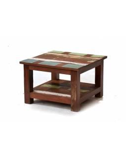 """Konferenční stolek z antik teakového dřeva v """"Goa"""" stylu, 60x60x40cm"""