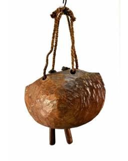 Dřevěný zvon, antik, 30x20x17cm