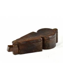 Krabička na Tiku, antik, teakové dřevo, 39x14x10cm