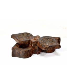 Krabička na Tiku, antik, teakové dřevo, ručně vyřezaná, 20x7x6cm