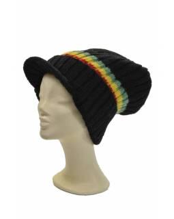 """Čepice, """"Bob Marley"""", pruhy -RASTA-, kšilt, vlna, podšívka"""