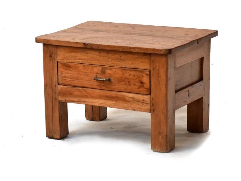 Stolek z antik teakového dřeva, 60x45x40cm