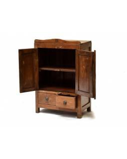 Skříňka z antik teakového dřeva, 53x30x83cm