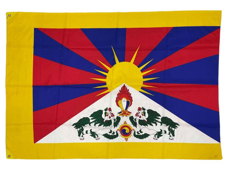 Vlajka Tibet, screen print, 2 očka na přichycení, 125x85cm