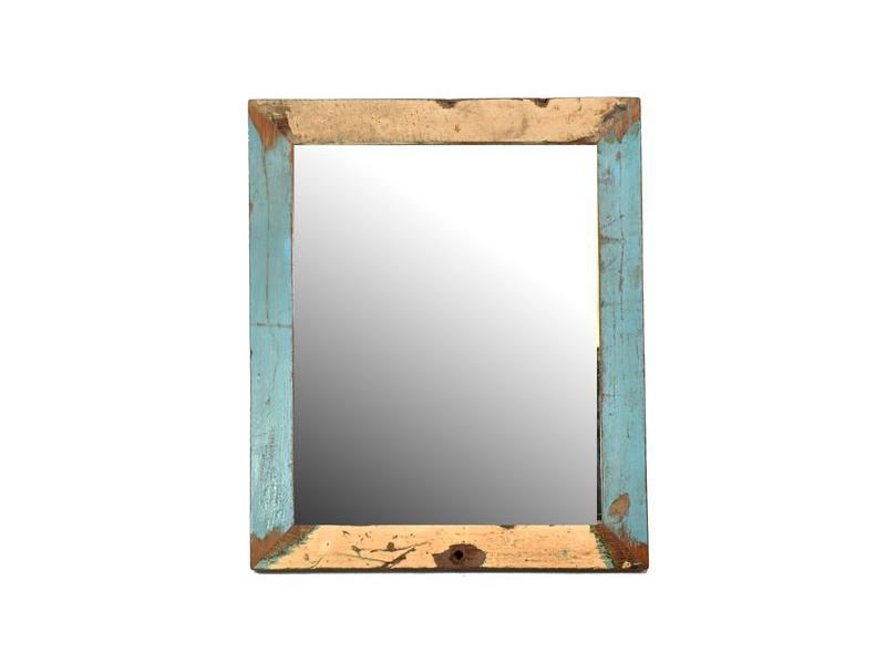 Zrcadlo v rámu, antik, teak, 42x36x2cm