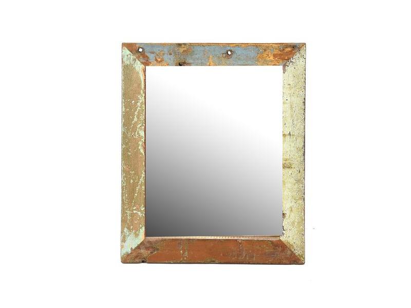 Zrcadlo v rámu, antik, teak, 36x30x2cm