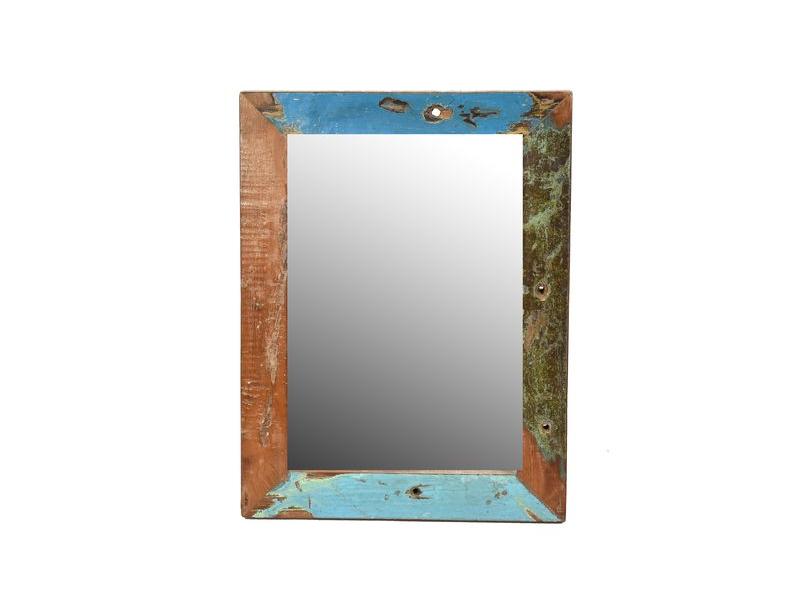 Zrcadlo v rámu, antik, teak, 36x27x2cm