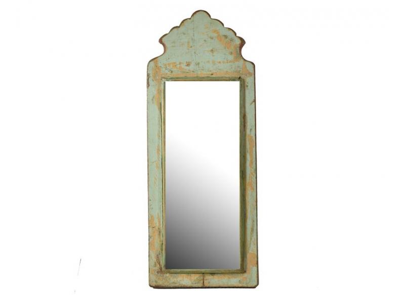 Zrcadlo v rámu z antik dřeva, 18x47x3cm