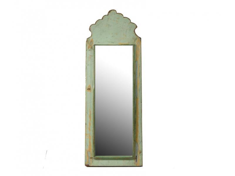 Zrcadlo v rámu z antik dřeva, 18x49x3cm