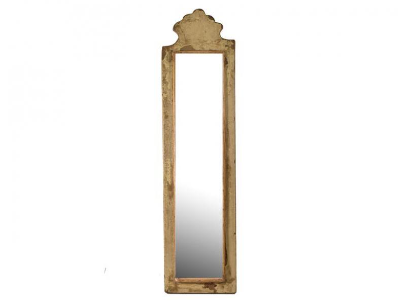 Zrcadlo v rámu z antik dřeva, 16x61x3cm