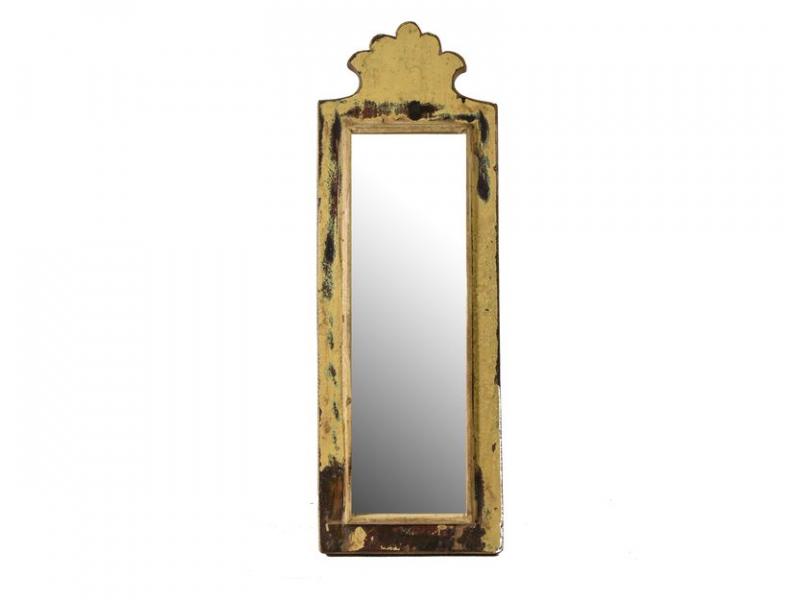 Zrcadlo v rámu z antik dřeva, 16x47x3cm