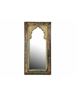 Zrcadlo v rámu z antik dřeva, 25x50x3cm