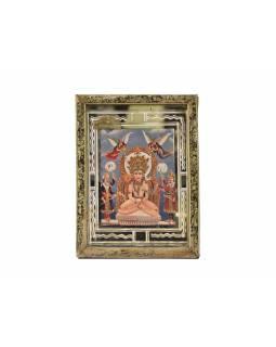 Antik obraz v dřevěném rámu, 17x22cm