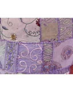 Taburet, Rajastan patchwork, kulatý, 45x36cm