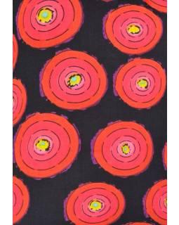 """Červeno černé tričko s krátkým rukávem """"Tisme"""", barevná kolečka"""