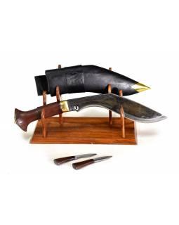 """Khukri - Balance, 9"""", dřevěná rukojeť, nůž 34cm, čepel 22cm"""