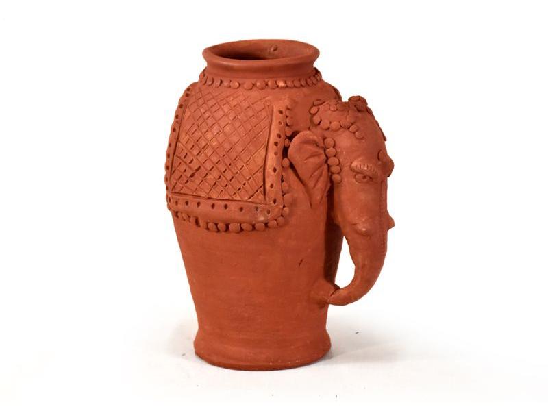 Keramická váza ve tvaru slona, výška 28cm