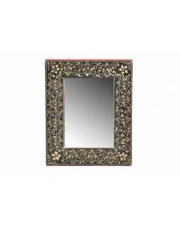 Malé zrcadlo v rámu z recyklovaného teakového dřeva, 20x25x2 cm