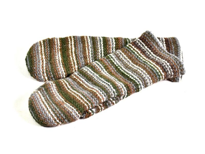 Rukavice-palčáky, unisex, multibarevné, podšívka