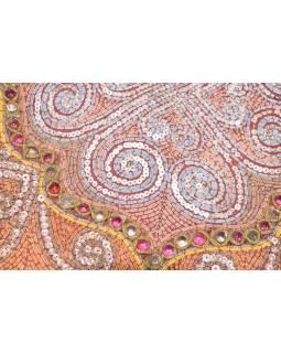 Tapisérie na stěnu, ruční výšivka, korálky, 50x50cm