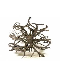Dřevěná hlava Déví z kořene rambutanu, 160x150cm
