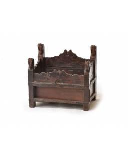 Odkládací stolek/stolička teakového dřeva, 48x35x44cm