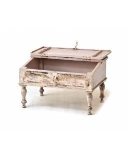 Starý kupecký stolek s odklápěcí deskou, 65x45x40cm