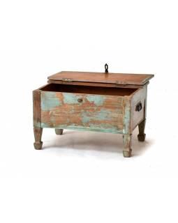 Starý kupecký stolek s odklápěcí deskou, 62x44x38cm