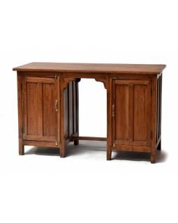 Starý psací stůl z teakového dřeva, 121x52x75cm