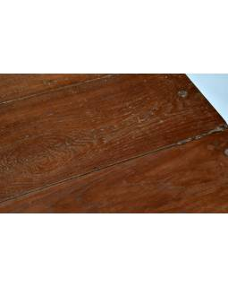 Starý psací stůl z teakového dřeva, 92x60x75cm