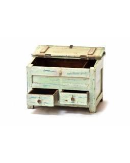 Starý kupecký stolek s odklápěcí deskou, 62x42x48cm