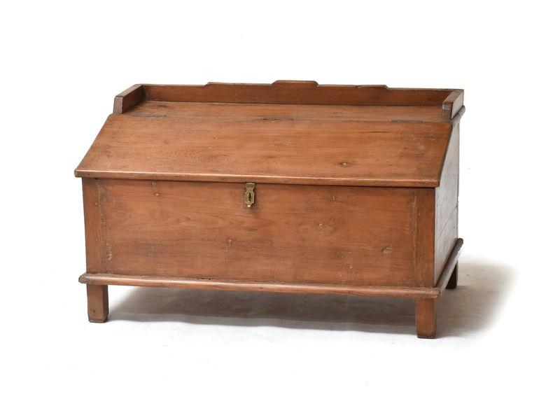 Starý kupecký stolek s odklápěcí deskou, 80x45x45cm