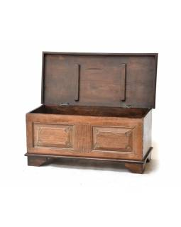 Stará dřevěná truhla z teakového dřeva, 95x43x44cm