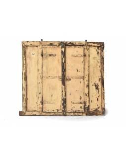 Zrcadlo ve staré okenici z teaku, 94x5x86cm