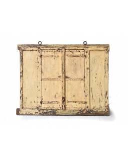 Zrcadlo ve staré okenici z teaku, 120x5x94cm