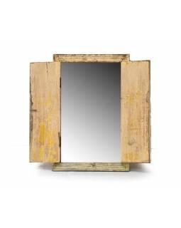 Zrcadlo ve staré okenici z teaku, 58x7x90cm