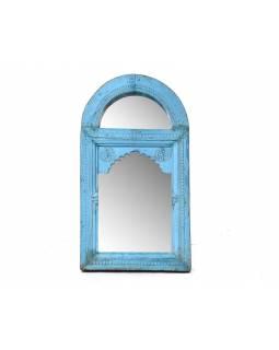 Zrcadlo ve starém rámu z mangového dřeva, ručně vyřezávaném, 67x9x121cm