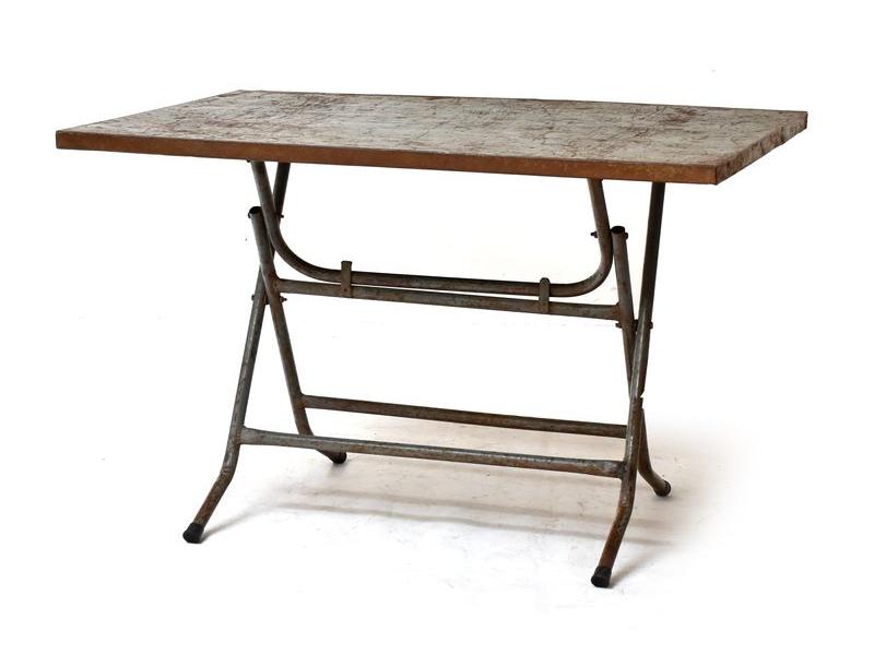 Celokovový skládací stolek, 115x76x74cm