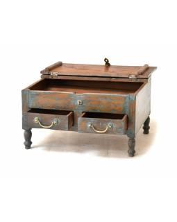 Starý kupecký stolek s odklápěcí deskou, 59x43x33cm