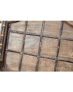 Křeslo vyrobené ze starého povozu, teak, 62x65x93cm